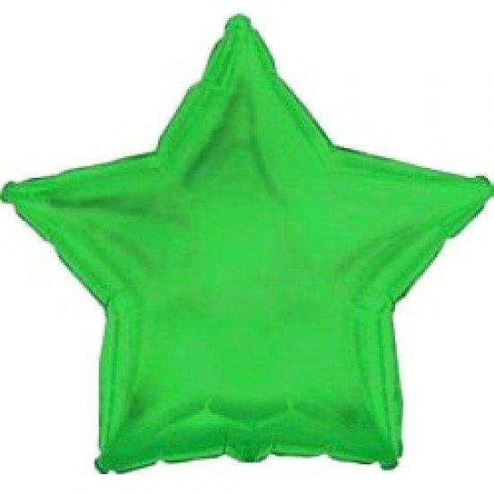 Шар из фольги, Звезда, Зеленая, 46 см