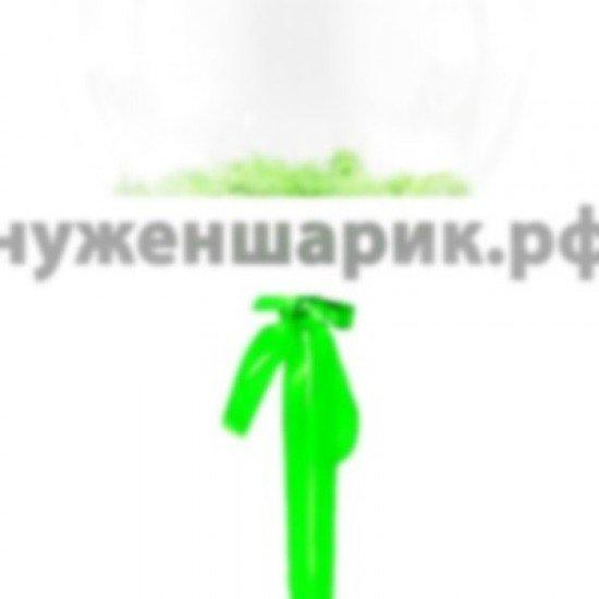 Прозрачный шар Bubble с Зелеными перьями, 46 см