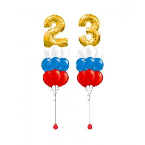 Два фонана на день рождения( цифры могут быть заменены на любые