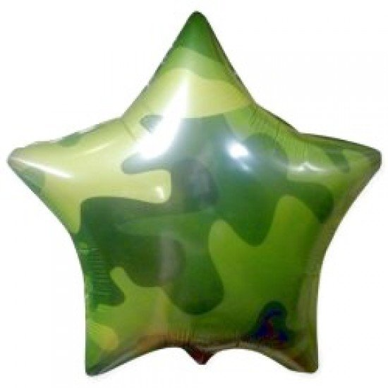 Шар из фольги, Звезда, Камуфляж, 46 см