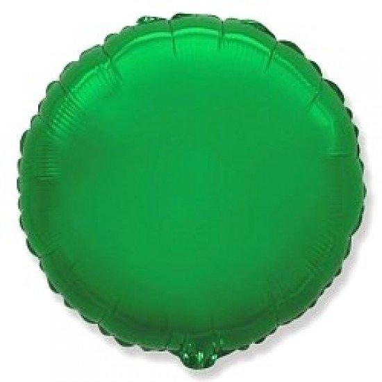 Шар из фольги, Круг, Зеленый, 46 см