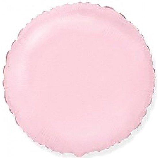 Шар из фольги, Круг, Розовый, 46 см