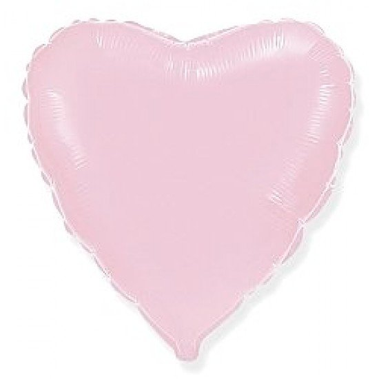 Шар из фольги, Сердце, Розовое, 46 см