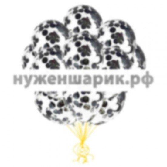Облако воздушных шаров Серебро Конфетти
