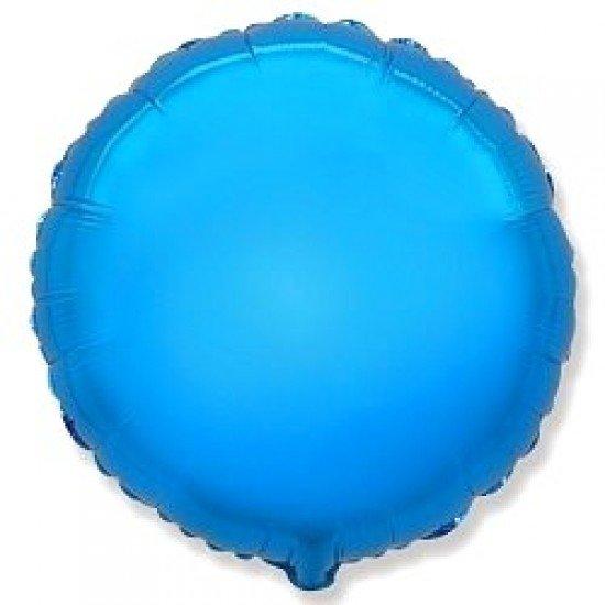 Шар из фольги, Круг, Синий, 46 см