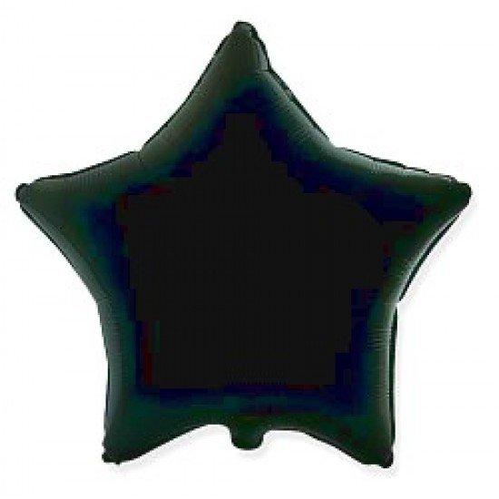 Шар из фольги, Звезда, Черная, 46 см
