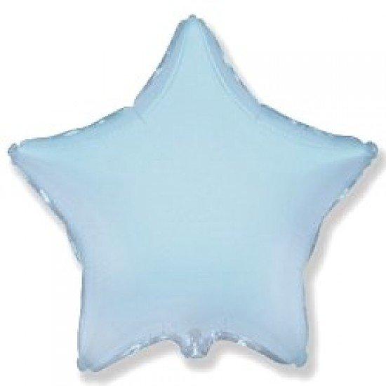 Шар из фольги, Звезда, Голубая, 46 см