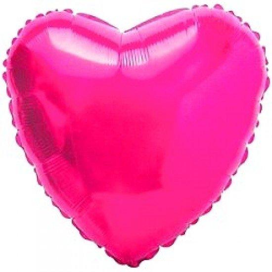 Шар из фольги, Сердце, Фуше, 46 см