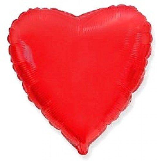 Шар из фольги, Сердце, Красное, 46 см