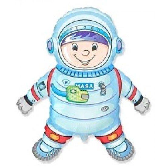 Фигура, Космонавт, Голубой, 102 см