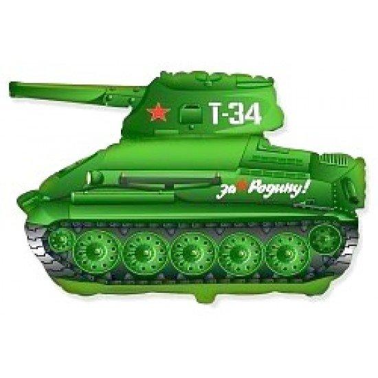 Фигура, Танк T-34, Зеленый, 79 см