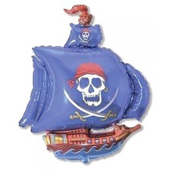 Фигура, Пиратский корабль, Синий, 104 см