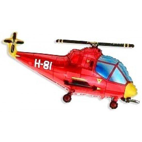 Фигура, Вертолет, Красный, 97 см